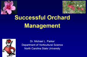 Cover photo for Presentations From the NC Peach Growers' Society Annual Meeting